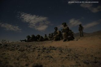 U.S. Army soldiers assigned to Delta Company, 3rd Battalion, 75th Ranger Regiment