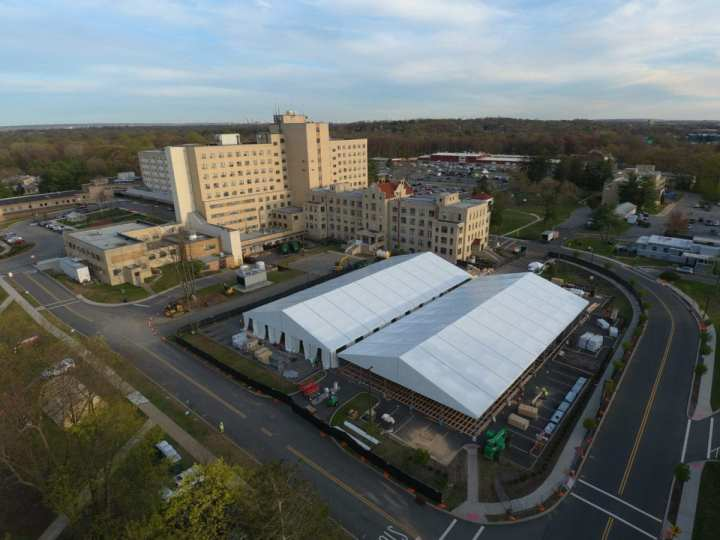 COVID-19 temporary medical facility USACE DynCorp International