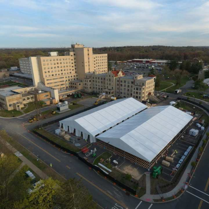 COVID-19 temporary medical facility USACE DynCorp International