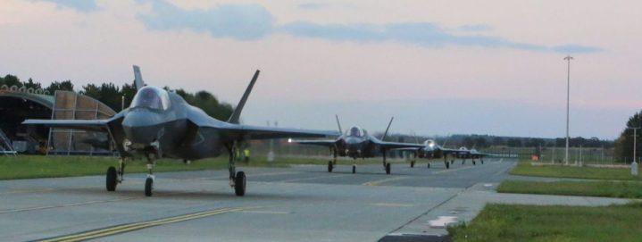 U.S. Marine Corps F-35B lightning II on Runway