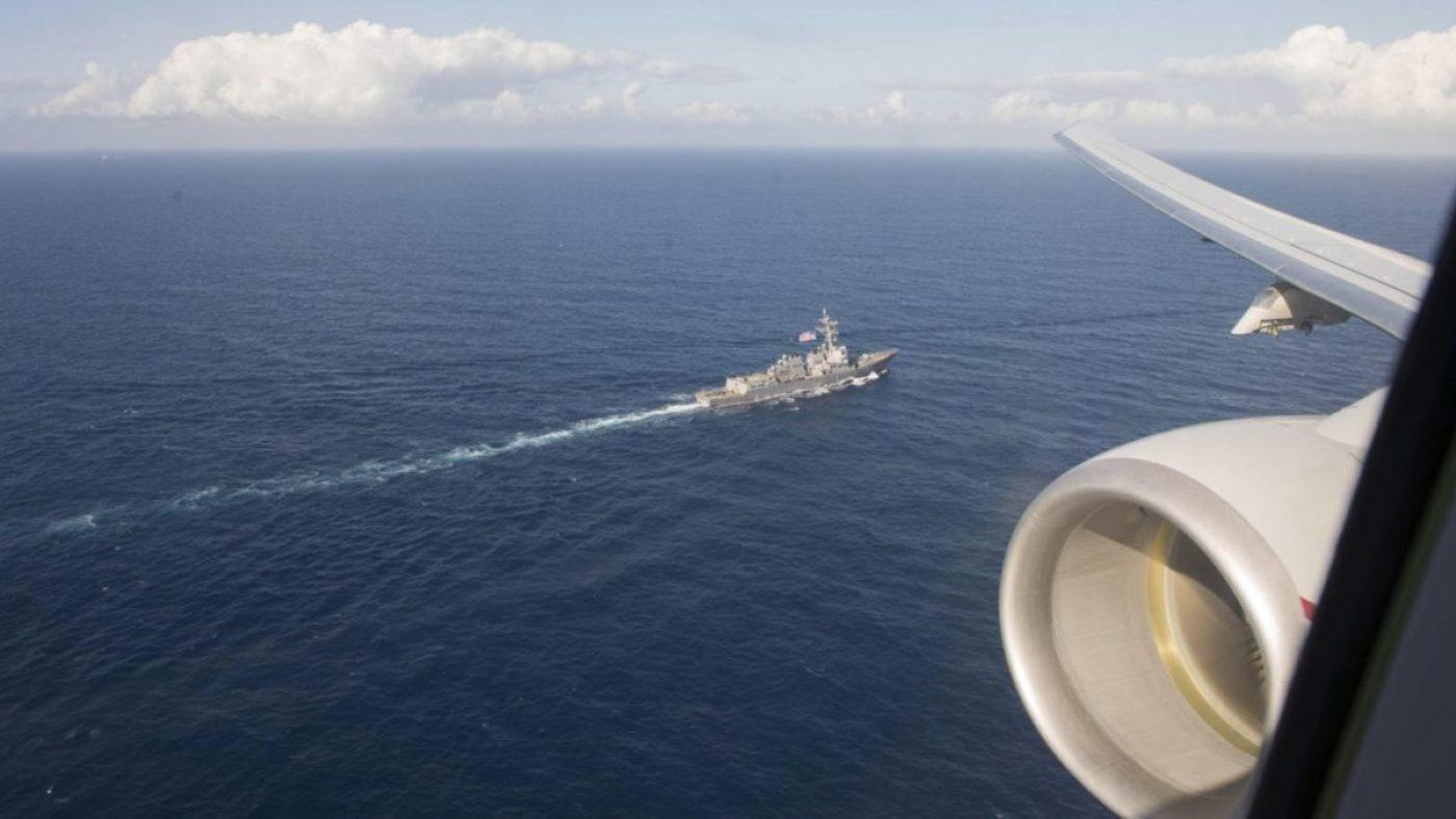 Arleigh Burke-class guided-missile destroyer USS Roosevelt P-8A Poseidon aircraft assigned 6th Fleet U.S. Navy