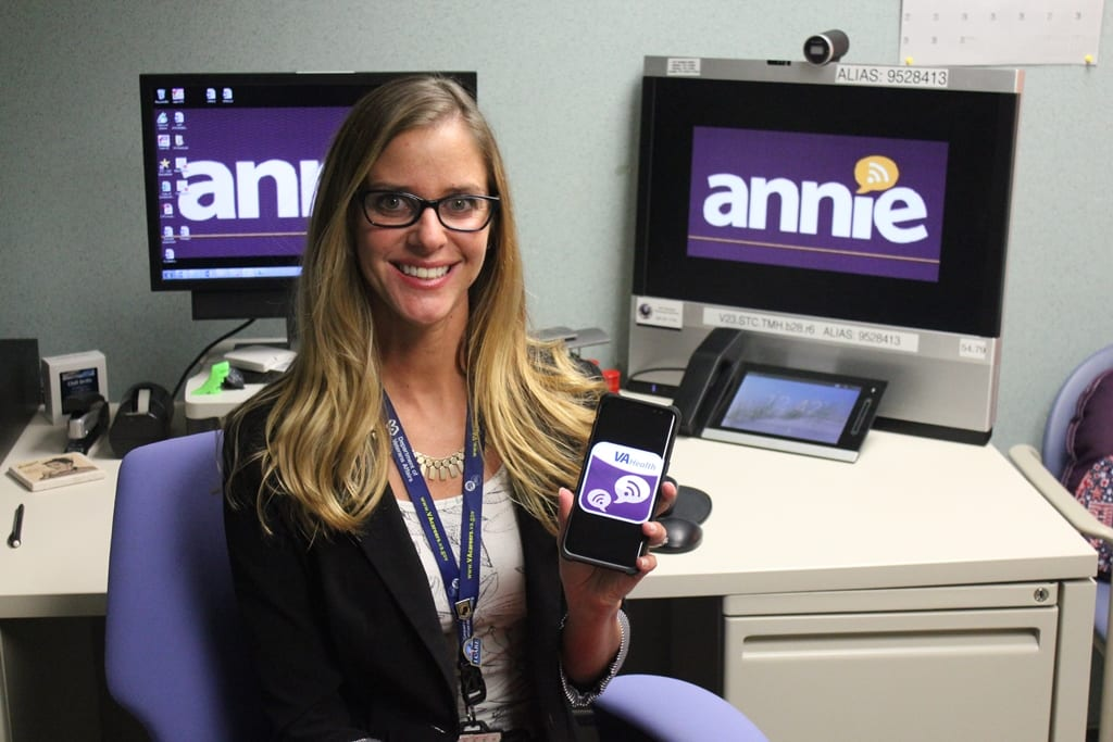 Annie is a VA mobile app that delivers automated text messages with health-related reminders or notifications. (VA Photo)