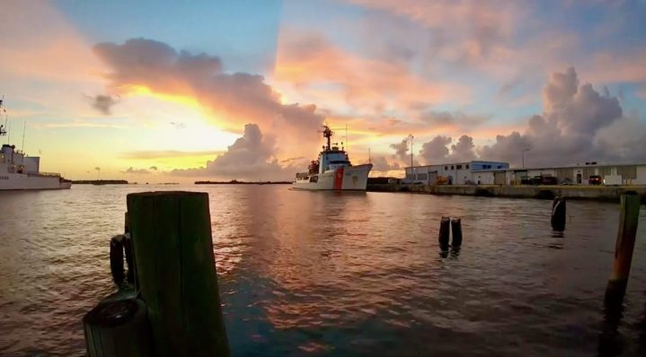 USCGC Resolute (WMEC 620) tied to the pier Aug. 31, 2020, in St. Petersburg, Florida. Resolute conducted a 59-day JIATF-S patrol in the Caribbean in late summer 2020. (U.S. Coast Guard photo)