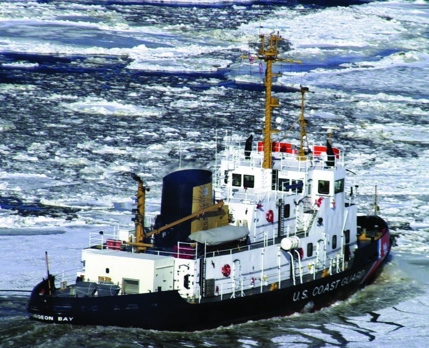 The Service Life Extension Program (SLEP) for the 140-foot icebreaking tugs (WTGB) of the Coast Guard fleet marked the beginning of the In-Service Vessel Sustainment (ISVS) program. (U.S. Coast Guard photo by PA3 Bill Barry)