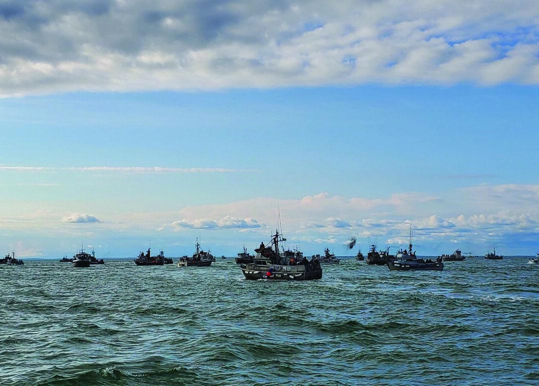 Despite COVID-19 precautions, the Coast Guard was able to conduct safety inspections of the Alaskan salmon fishing fleet. (U.S. Coast Guard photo)