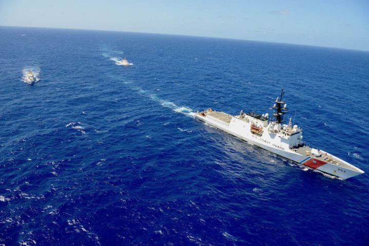 U.S. Coast Guard ships depart Puerto Rico