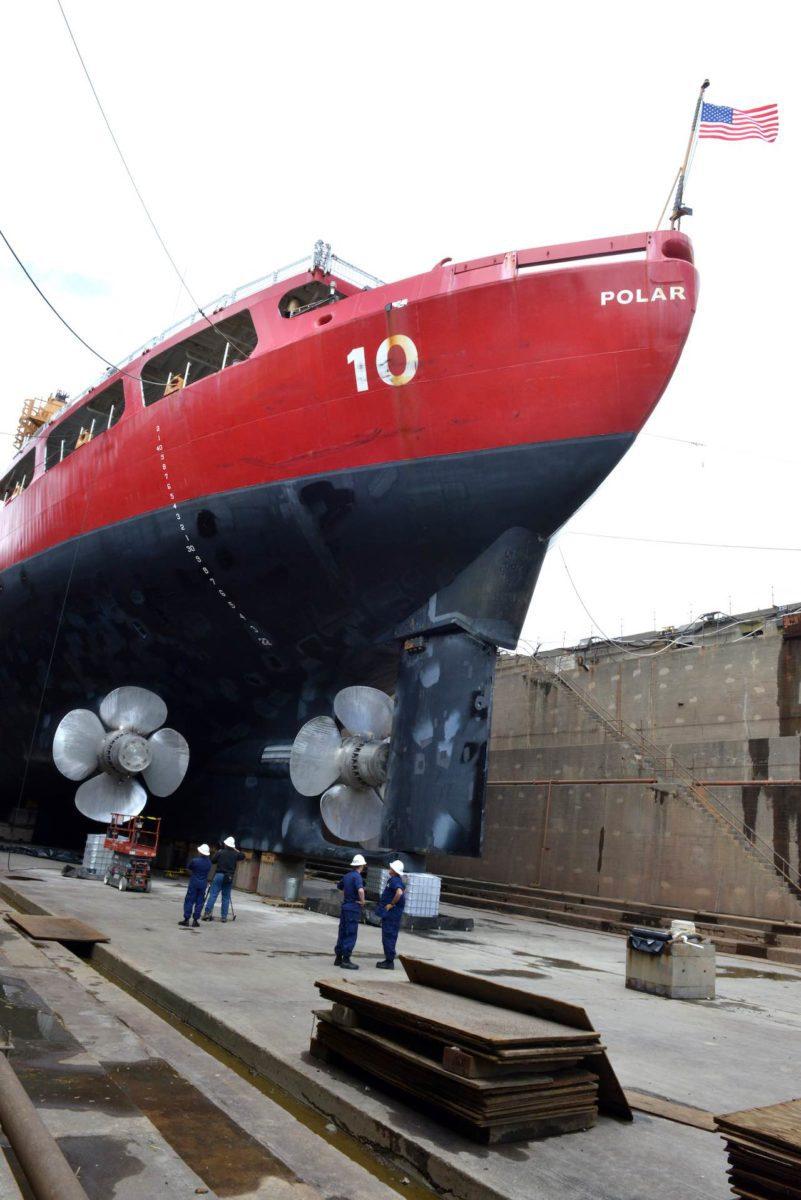 Coast Guard Cutter Polar Star in Dry Dock