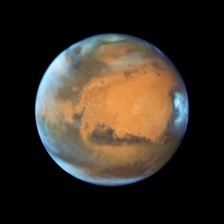 Mars image taken by Hubble. Source: NASA