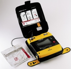 Lifepak 1000 AED with optional ECG screen and manual override