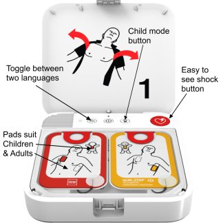 Lifepak CR2 AED from Physio Control