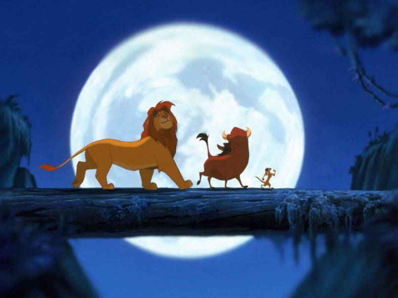 Simba, Timon and Pumbaa singing Hakuna Matata