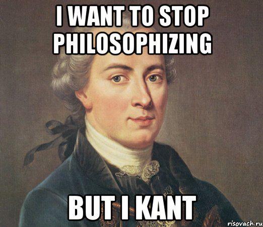 Immanuel Kant Philosophy Pun