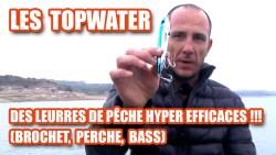 Les Topwater des leurres de pêche hyper efficaces