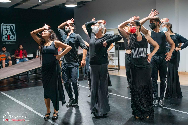 Ensayos 'Amores flamencos' con María Cruz - Carmela Greco