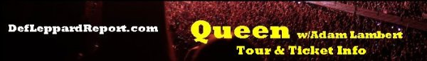 Def Leppard Tour page strip - Queen Adam Lambert