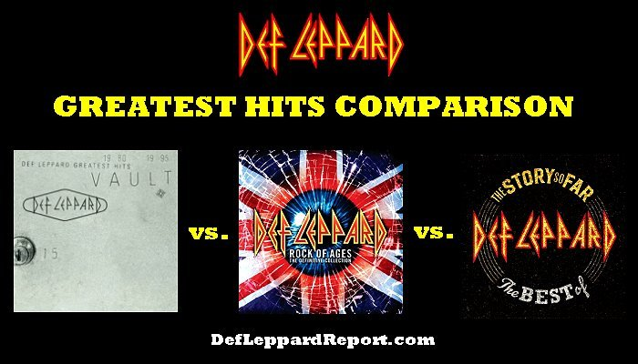 Def Leppard Greatest Hits Albums Comparison