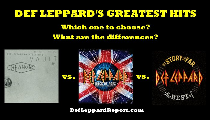 Def Leppard Greatest Hits Albums