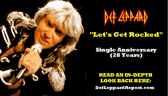 Def Leppard Let's Get Rocked Single Spotlight