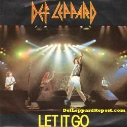 Def Leppard Let It Go vinyl single