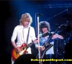 Steve Clark and Pete Willis in Def Leppard Bringin On The Heartbreak music video