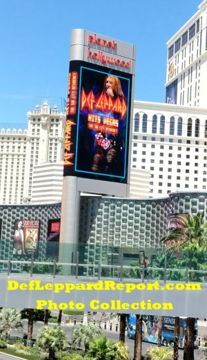 Planet Hollywood Sign Def Leppard Residency