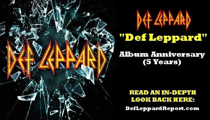 Def Leppard self-titled album anniversary