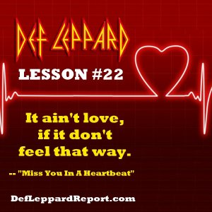 Def Leppard Lyrics Lesson - Miss You In A Heartbeat