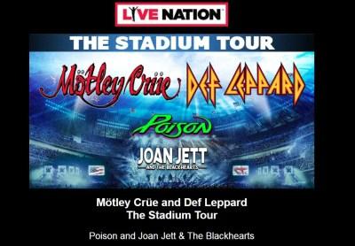 Def Leppard Motley Crue 2020 stadium tour