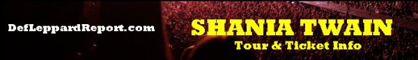 Shania Twain tour tickets