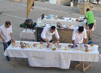 Interessant 'showcooking' del cuiner mexicà David Moreno a Cala Rajada