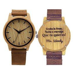 51ndGqxb L - Reloj de Madera Personalizado, bambú