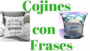 Cojines con frases