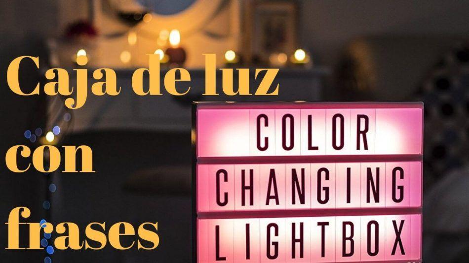 Caja de luz con frases