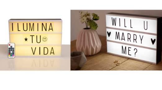 Cajas de luz con letras - Caja de luz con frases