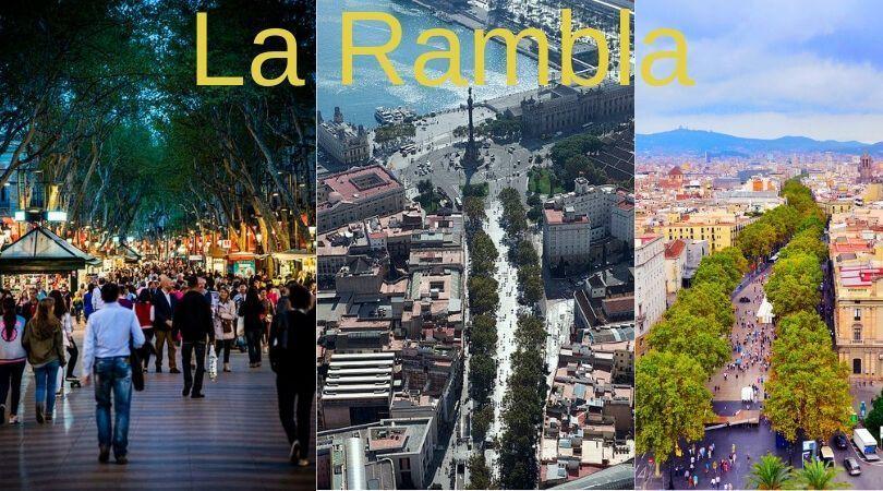 La Rambla de barcelona - Barcelona frases