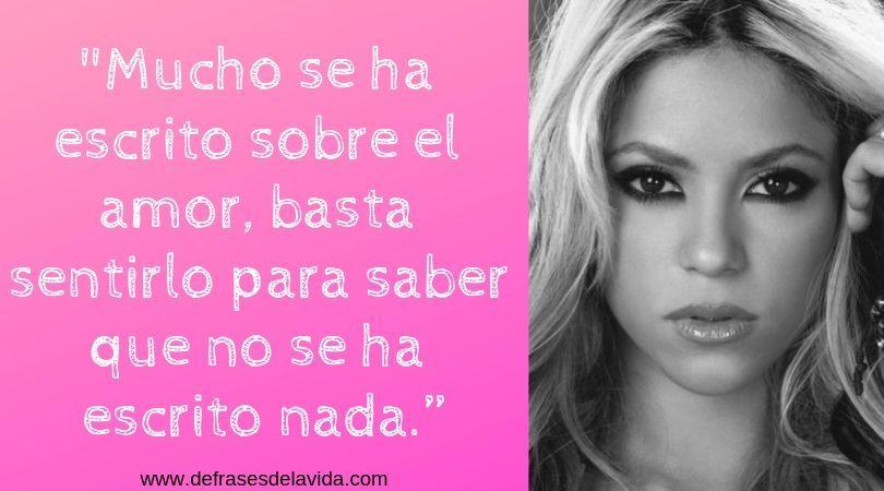 shakira y el amor - Frases de Shakira