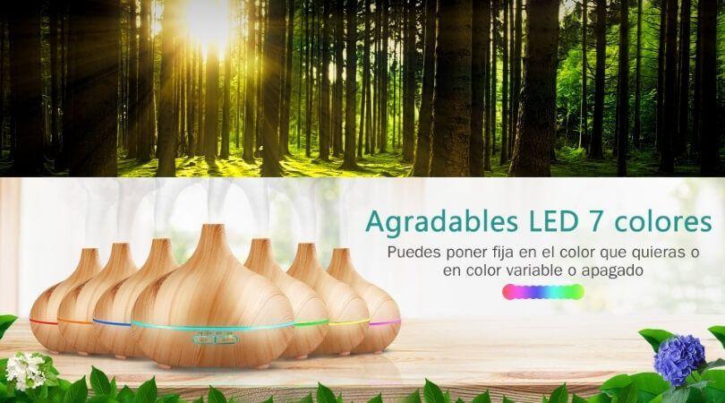 Difusor de Aceites Esenciales, 7-Color LED