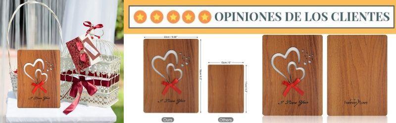opiniones de la tarjeta de felicitación de madera tuparka