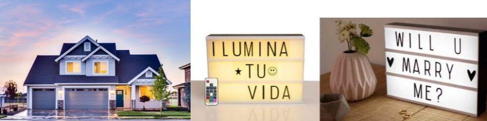 Letreros luminosos con frases
