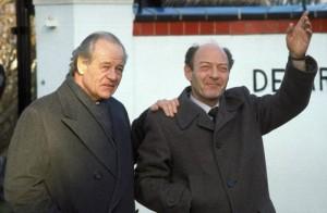 Heineken (left) and Doderer (right) after their liberation