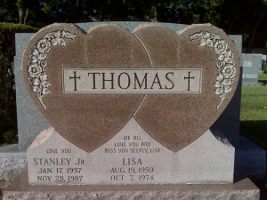 Lisa's grave courtesy of Mavis Ronayne