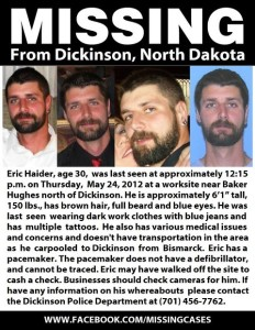 Eric Haider FB Missing Poster