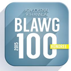 ABA Blawg100 Honoree Badge 2015