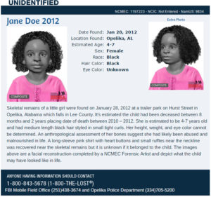 NCMEC Lee County Jane Doe