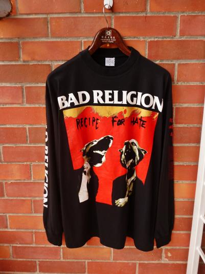 VINTAGE BAD RELIGION RECIPE FOR HATE EUROPE TOUR TSHIRT