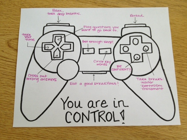 Game Control Test Strategy Graphic: Perfect for my 3rd Grader