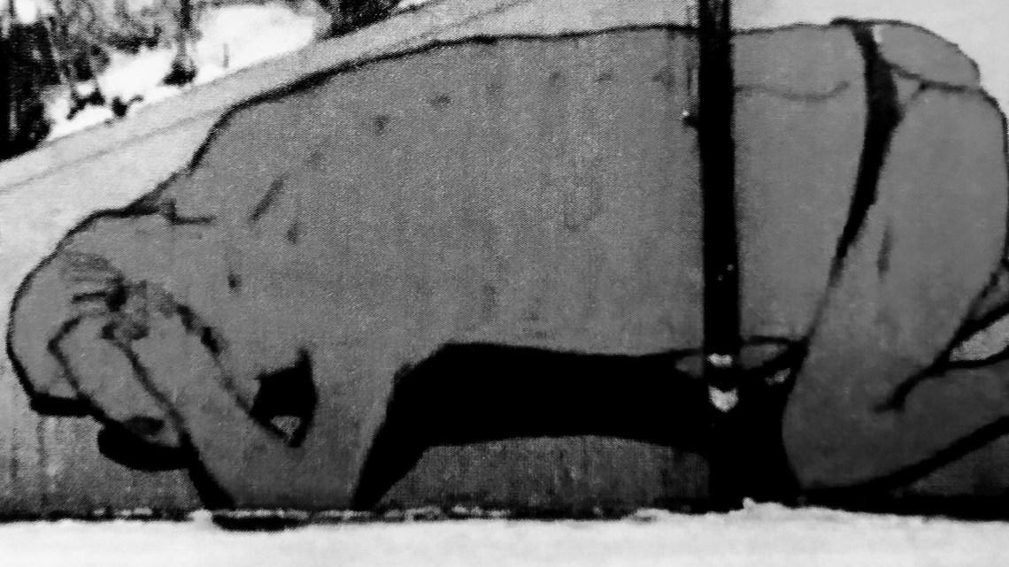 STREET ART SCOMPARSA: L'UOMO COL PERIZOMA DI BLU