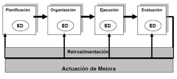 Cadena de proceso de la Evaluación del Desempeño