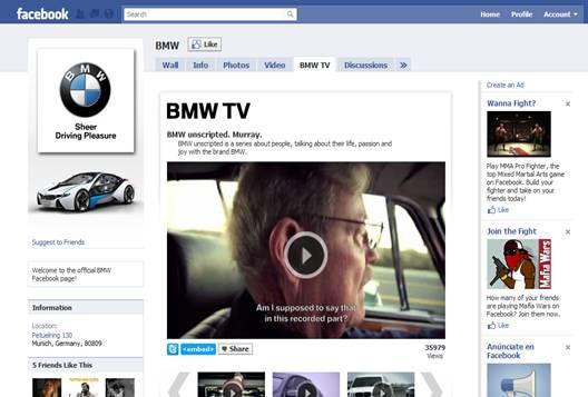 Página Oficial de BMW en Facebook