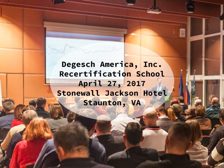 2017 Recert School